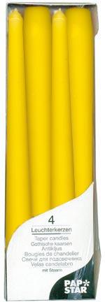 Свеча Античная   d2х25см желтая 4шт/уп
