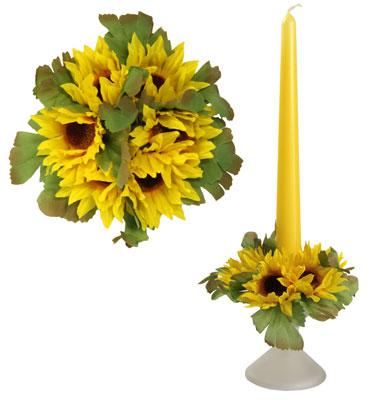 Букет на свечу d3см внутр Подсолнухи желтые