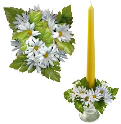 Букет на свечу d3см внутр Маргаритки белые