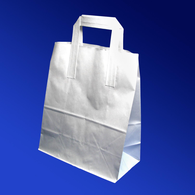 Пакет-сумка бумажная прочная 26х22+11см