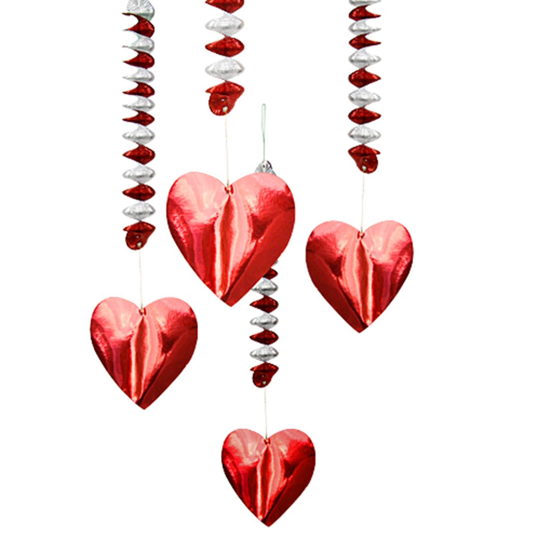Гирлянда-спираль Сердце 5х80см 4шт/уп