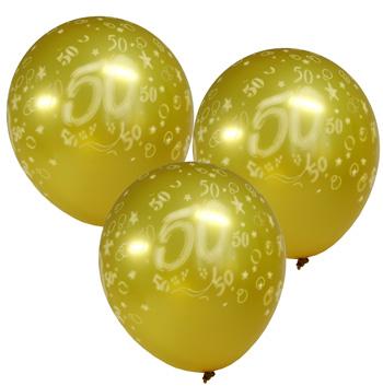 Шар воздушный Знак 50 золотой d30см  4шт/уп  Kg