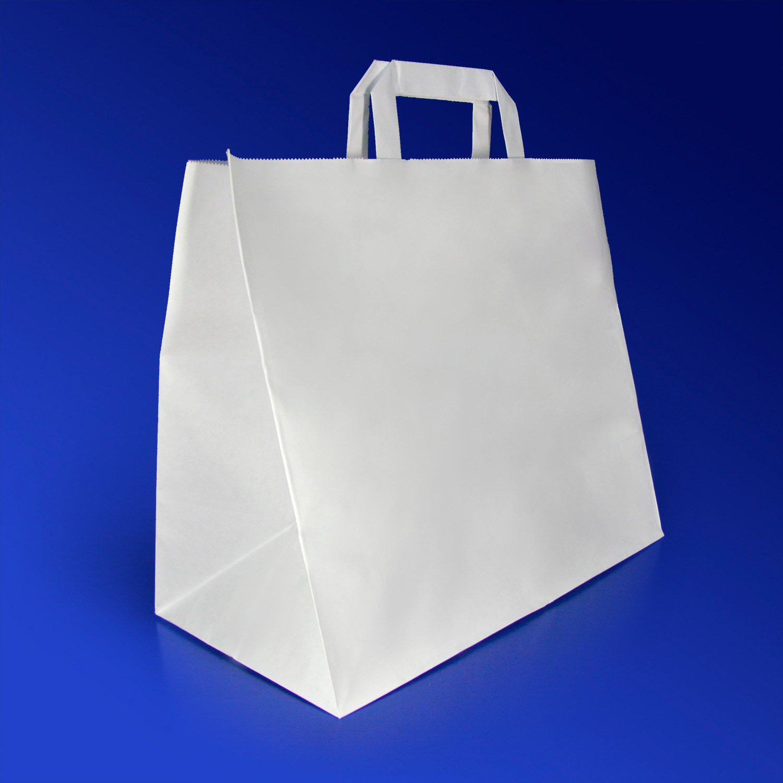 Пакет-сумка бумажная прочная 25х32+17см  50шт в уп