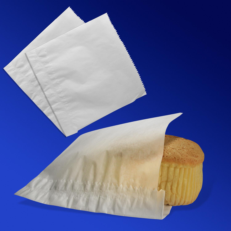 Пакет бумажный  17х18см белый  для донера  100шт/уп