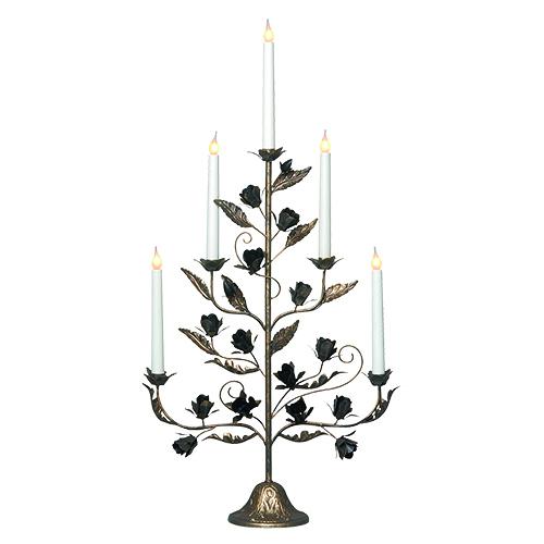 Канделябр LED Розетта бронзовый 5 свечей