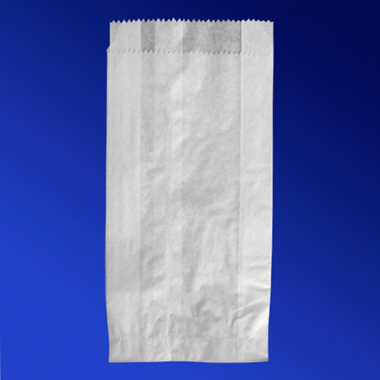 Пакет бумажный  21х10,5х3см белый для выпечки 100шт/уп
