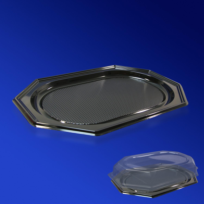 Крышка к подносу из пластика 450мм прозрачная 46,5х31х6,5 см