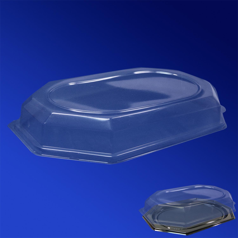 Крышка к подносу из пластика 550мм прозрачная 56х37х6,5 см