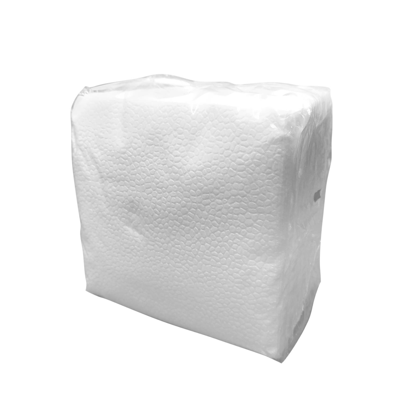 Салфетки  белые  24х24см 1-слойные  90шт/уп
