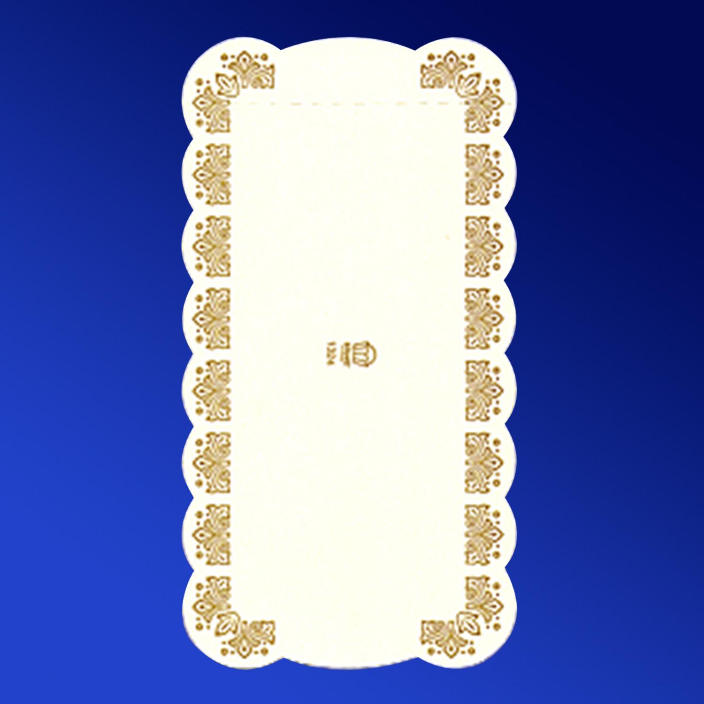 Подставка п/торт  13х24см белая с рисунком прям  500шт/уп