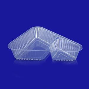 Контейнер пластиковый на  2 секции 100+300мл прозрачный 18,7X16,1х4,0см треуголка