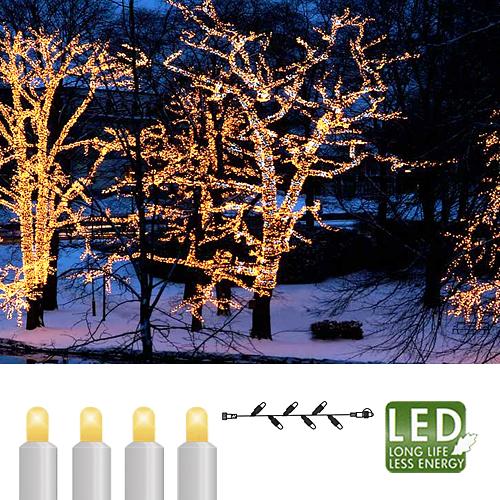 Гирлянда цепочка         3м теплобелая со вспышкой кабель белый дополнительная 30диодов LED outdoor