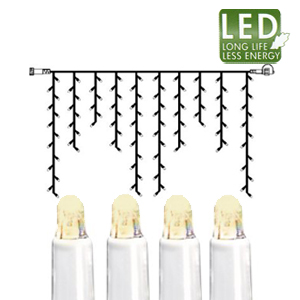 Гирлянда дождь  2x1м теплобелая кабель белый дополнительная 100диодов LED outdoor