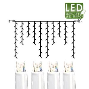 Гирлянда дождь  2x1м холоднобелая кабель белый дополнительная 100диодов LED outdoor