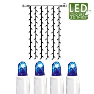 Гирлянда занавес    1x2м голубая кабель белый дополнительная 102диода LED outdoor
