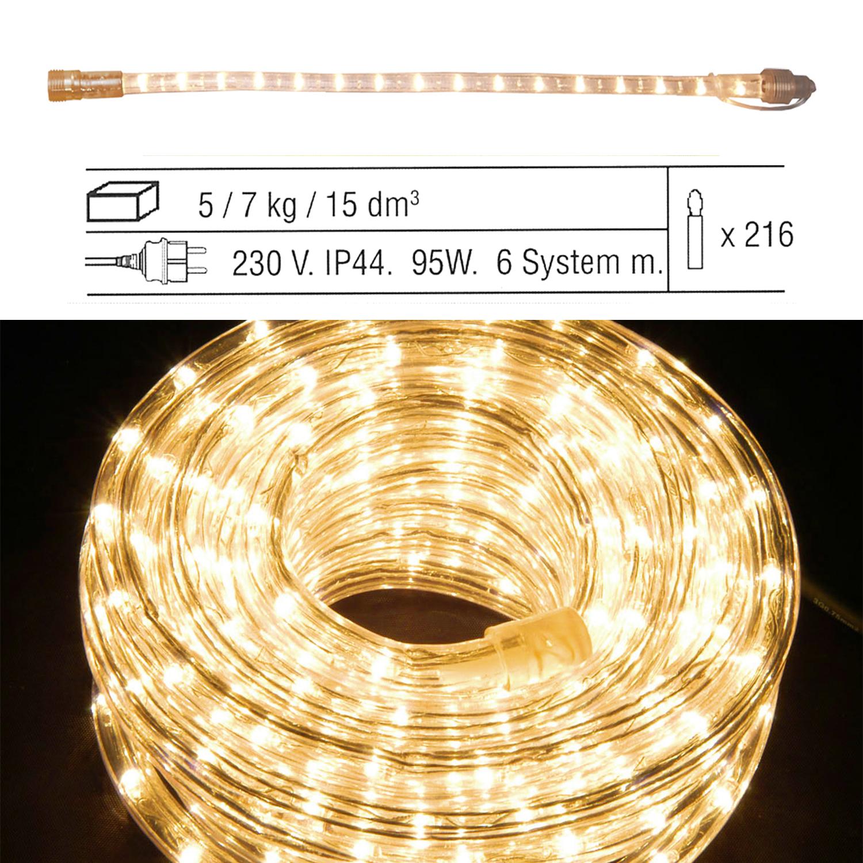 Гирлянда дюралайт  1м теплобелая прозрачная  дополнительная Ropelight d13мм 36ламп EXPO outdoor 2шт/уп