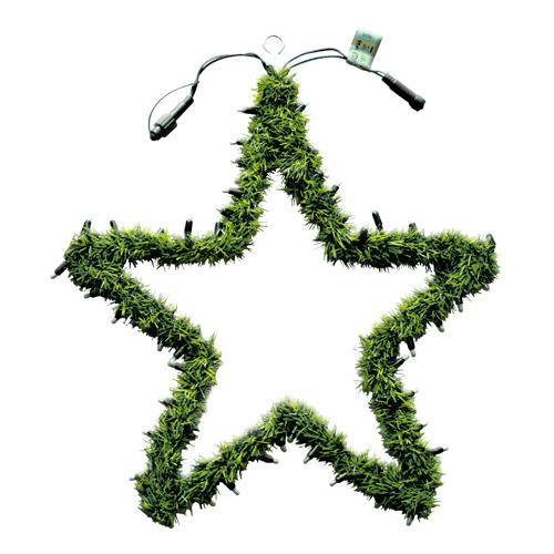 Гирлянда еловая   d0,55м зеленая Звезда с огнями дополнительная EXPO 50ламп