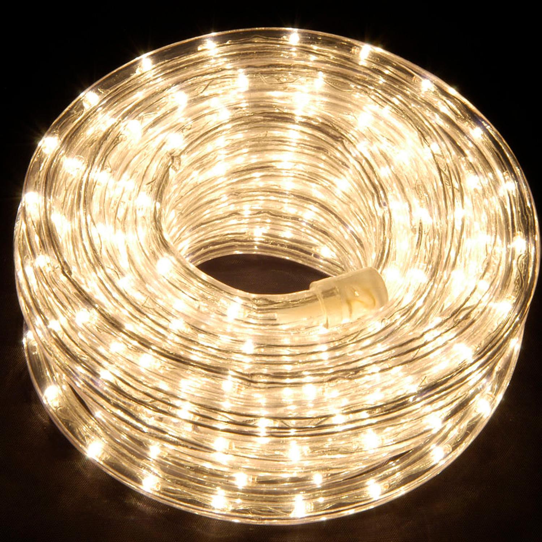 Гирлянда дюралайт 10м теплобелая дополнительная Ropelight d10мм 210диодов LED System 24 outdoor