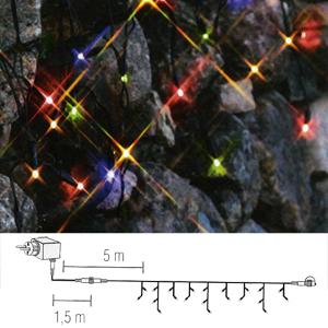 Гирлянда дождь  3х0,4м разноцветная кабель черный 1,5+3,5м стартовая 49диодов LED System 24 outdoor