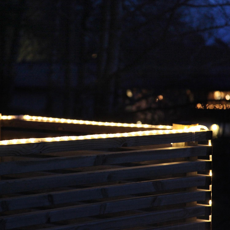 Гирлянда дюралайт  6м теплобелая кабель черный 1,5м стартовая Ropelight d10мм 126диодов LED System 24 outdoor