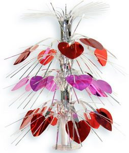 Каскад настольный  Сердца крас/розов 46 см