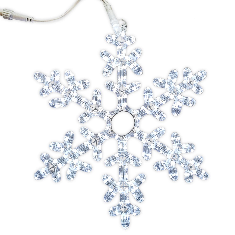 Декорация светодиодная Снежинка 0,5м холоднобелая