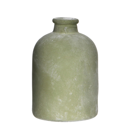 Декор Ваза керамическая зеленая 17х11см