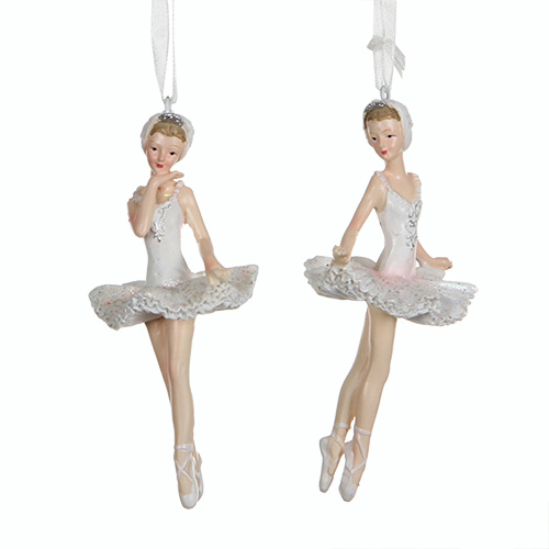 Декор Балерина 11см бело-розовая