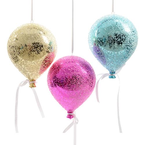 Декор Воздушный шар с лентой d15х20см в ассорт