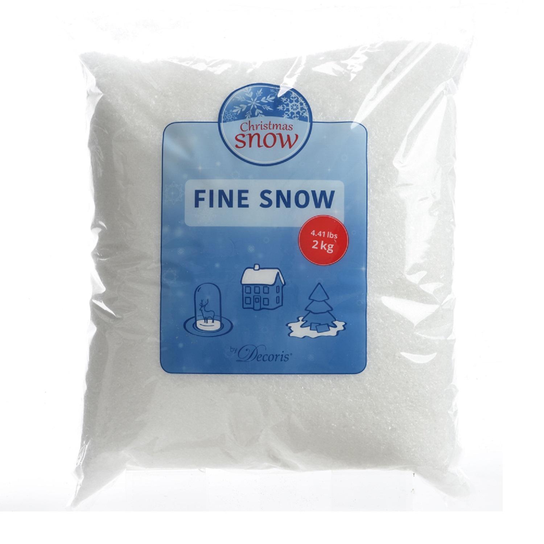 Снег мелкий белый 2кг 100% РЕ