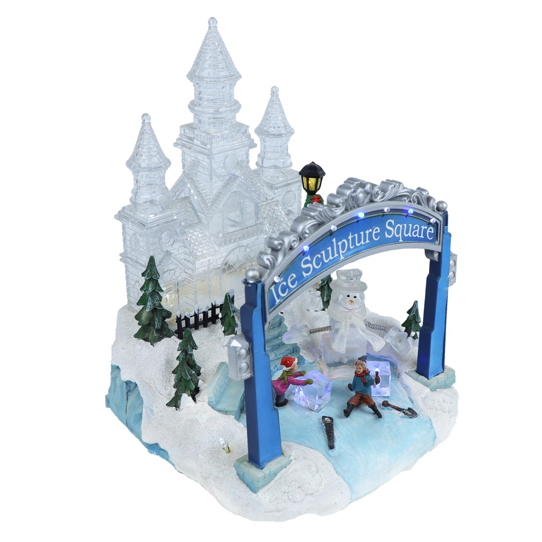 Декорация Ледяной сквер LED 23х22,5х27см