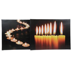 Декор Фото свечей в ассортименте с мерцающим пламенем 30х40см