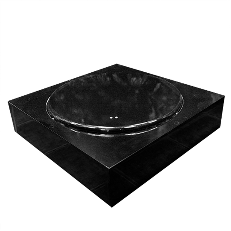 Подиум напольный вращающийся черный d65cм