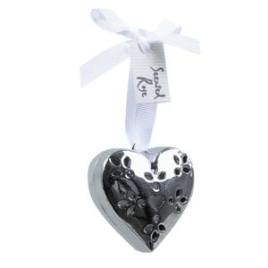 Декор Сердце ароматическое серебристое d5x2см