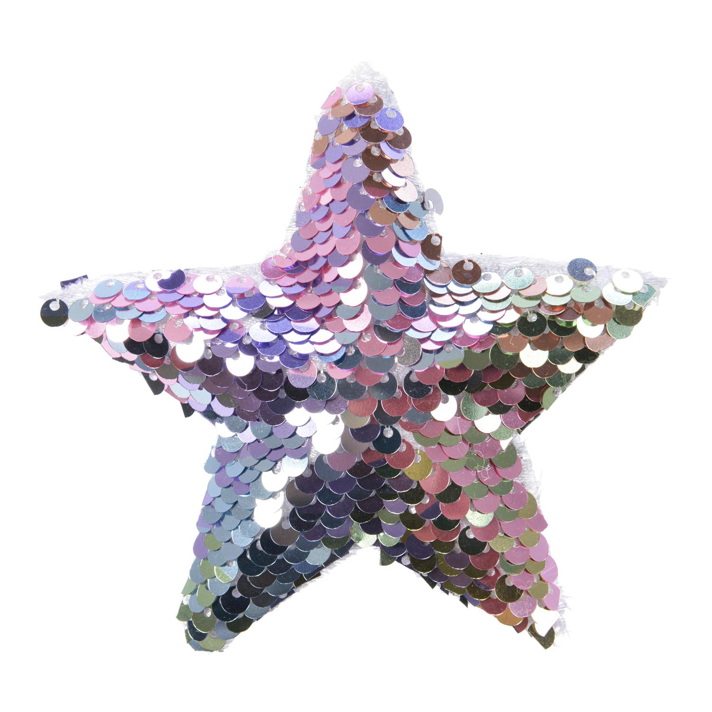 Декор Звезда радужно-розовая из паеток d10см