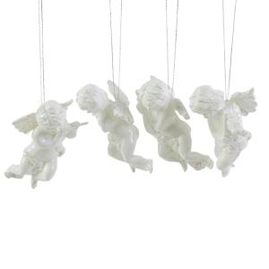 Декор Ангел белый 10см 4 в ассортименте