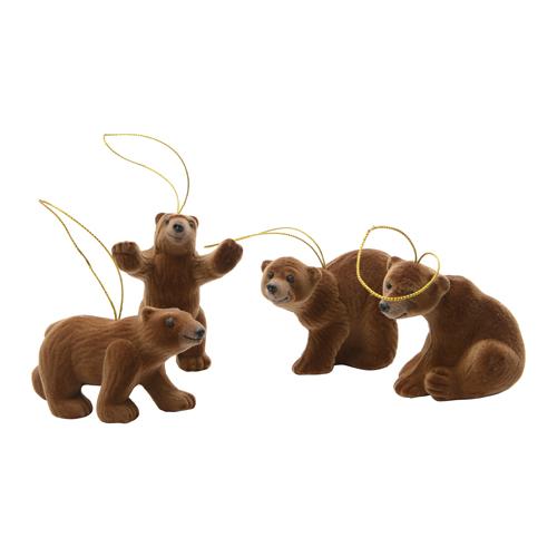 Декор Медведь бурый 8см 4 в ассорт