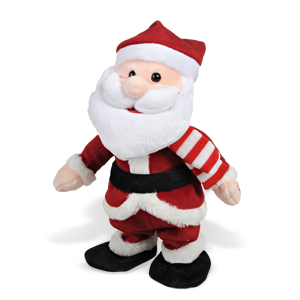Декорация музыкальн  Дед Мороз прыгающий 28см