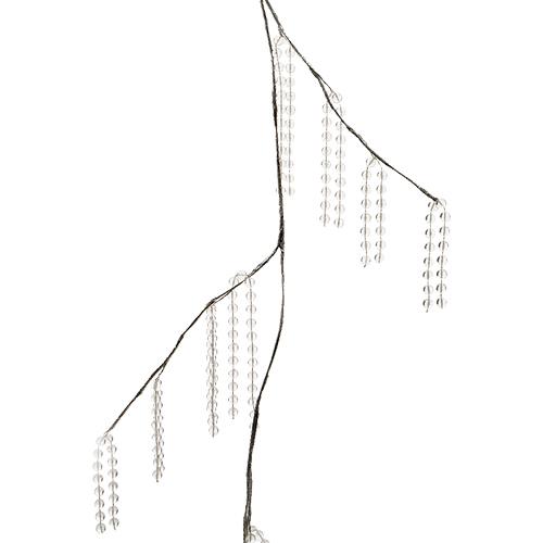 Декоративная гирлянда с прозрачными бусинками 120см