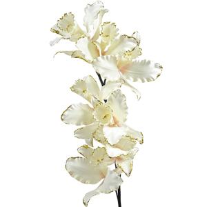 Декор Орхидея на стебле из шелка кремовая 78см