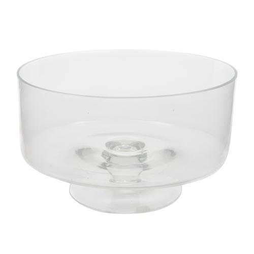 Ваза  d25x15cм стекло прозрачная чаша на ножке Ka