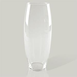 Ваза  d27х50см стекл  проз  овал  цилиндр Ka