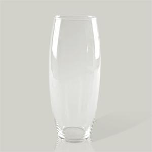Ваза   d10х40см стекло прозрачная овал цилиндр Ka