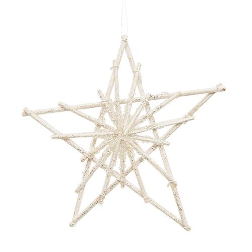 Декор Звезда белая 20см