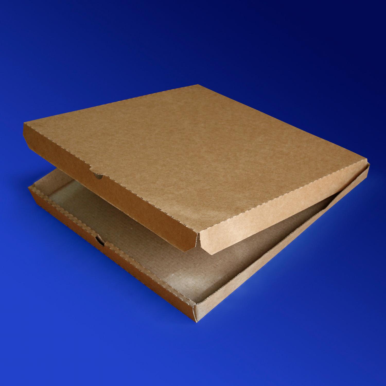 Пицца-коробка гофра 30х30х3см 50шт/уп бурая