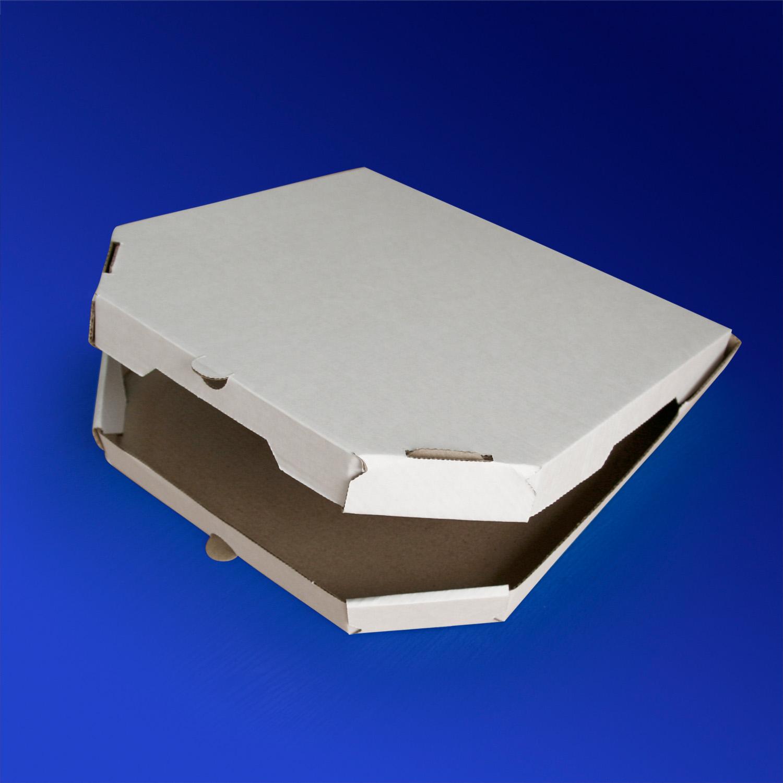 Пицца-коробка гофра 30х30х3см 50шт/уп белая трапеция