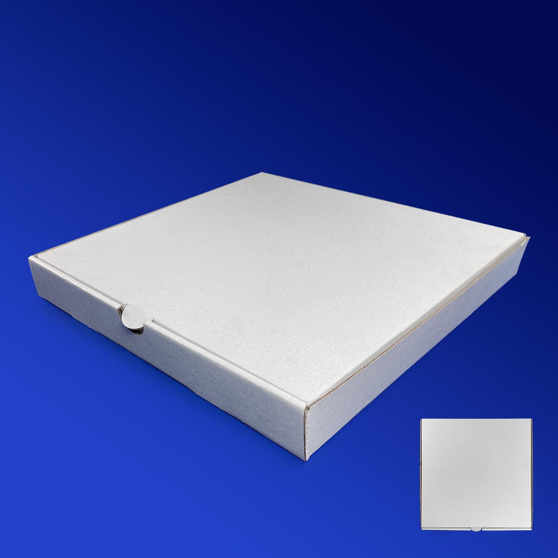 Пицца-коробка гофра 30х30х4см 50шт/уп белая