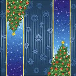 Салфетки  Новогодние голубые   Елочка  33х33см 20шт/уп