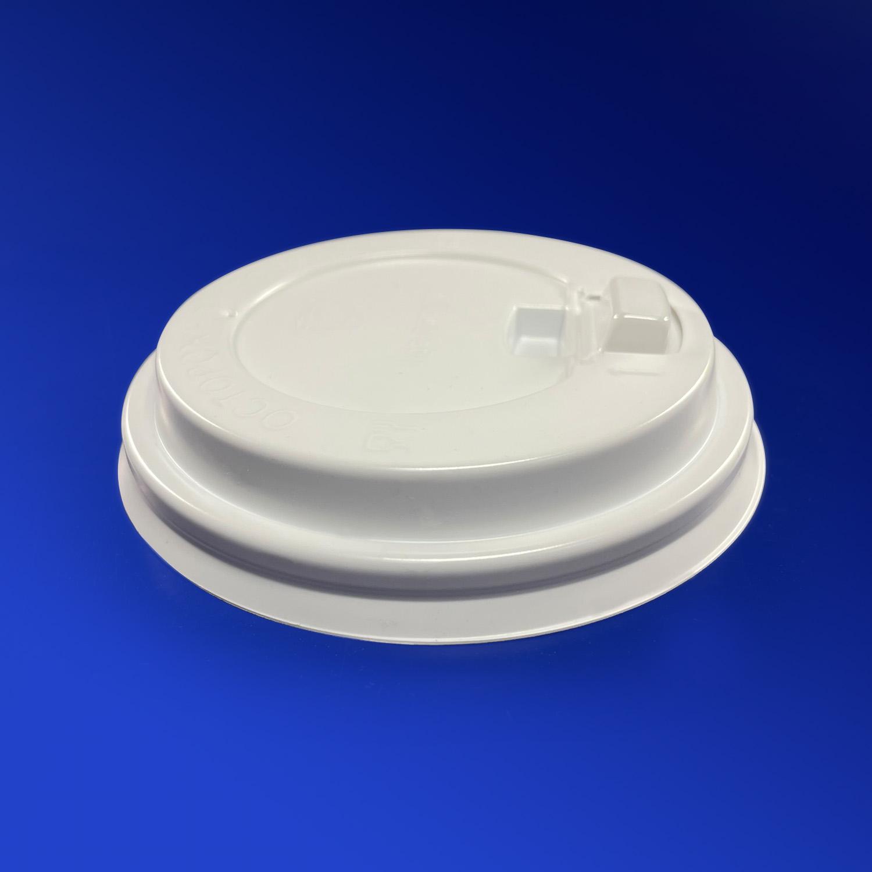 Крышка к стаканам d8,0см с отрывным питейником белая  100 шт/уп