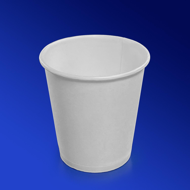 Стакан бумажный 165мл для горячих напитков белый 50 шт/уп